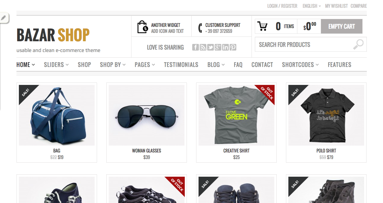Bazar Shop - Best WooCommerce Themes 2013