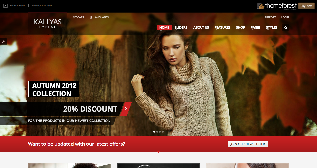 Kallyas - Best WooCommerce Themes 2013