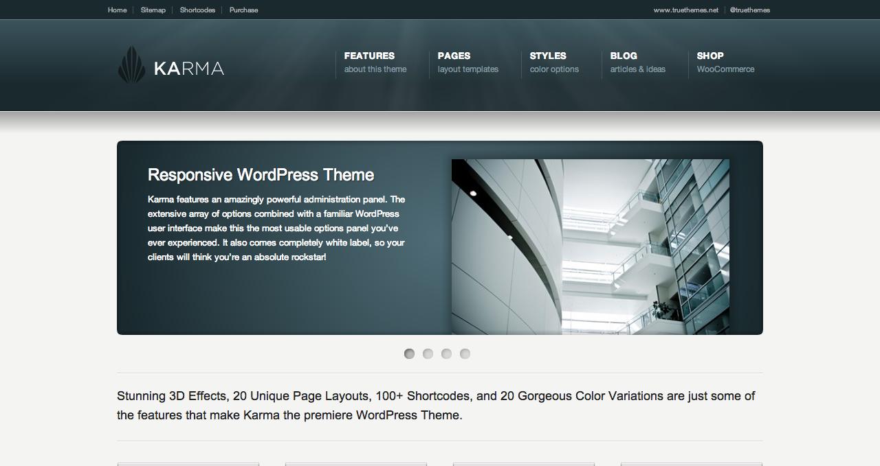 Karma Theme - Best WordPress Themes 2013