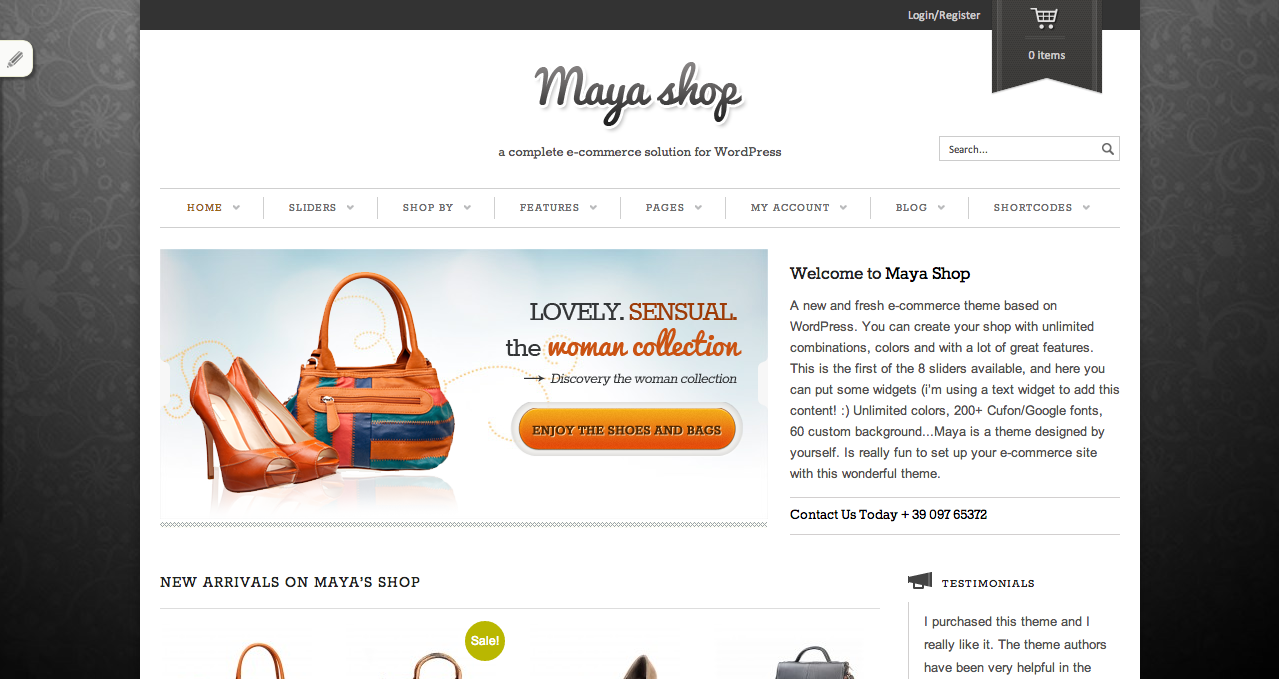 Maya Shop - Best WooCommerce Themes 2013