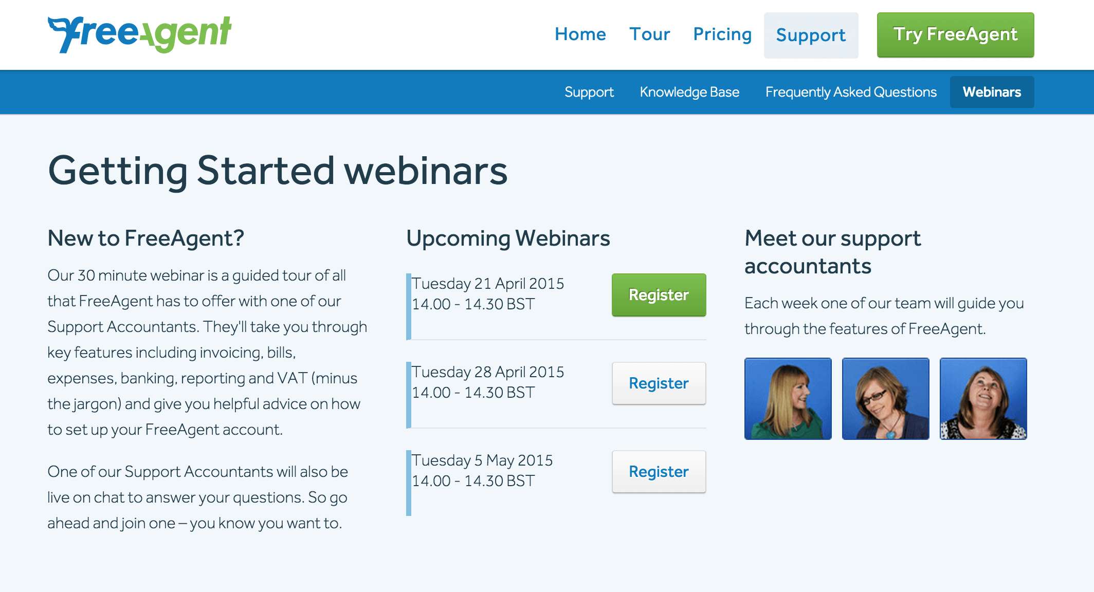 Webinars by FreeAgent