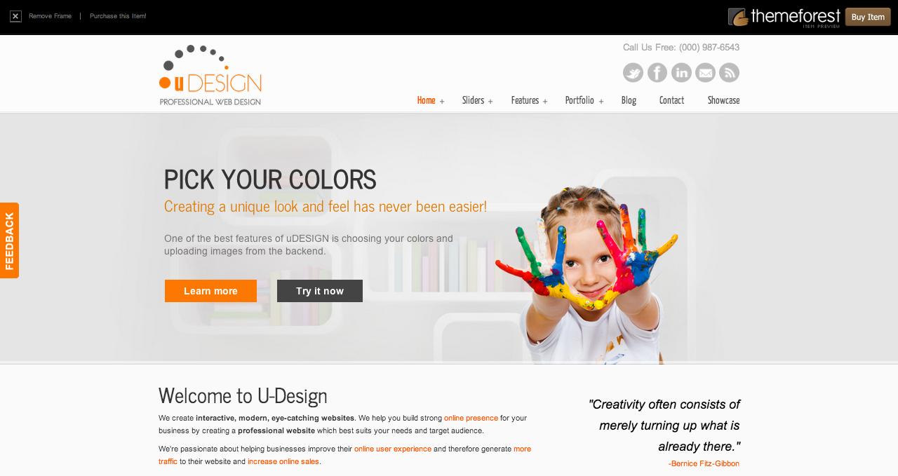 U Design Theme - Best WordPress Themes 2013
